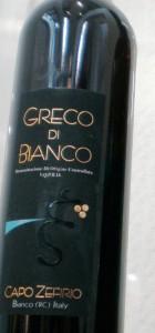 greco bianco vino calabrese