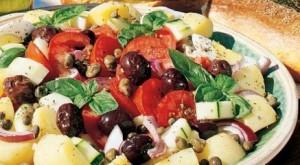 insalata di pomodori olive e patate calabrese