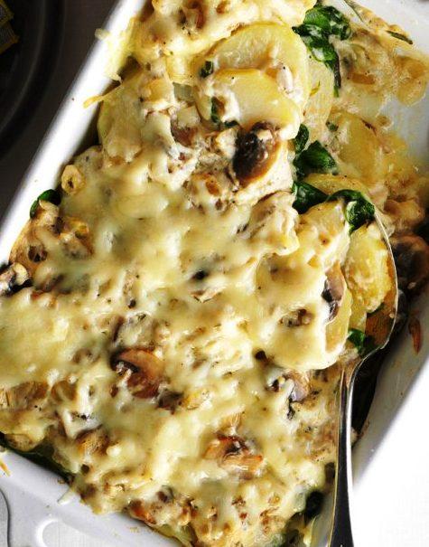 patate e funghi alla calabrese